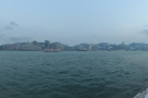 The view of the Hong Kong Island's north shoreline, as seen from Hung Hom.