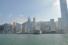 The Star Ferry Pier at Central, as seen from the ferry leaving for Kowloon.