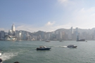 The view across the harbour: Wan Chai to the left, Admiralty in the middle.