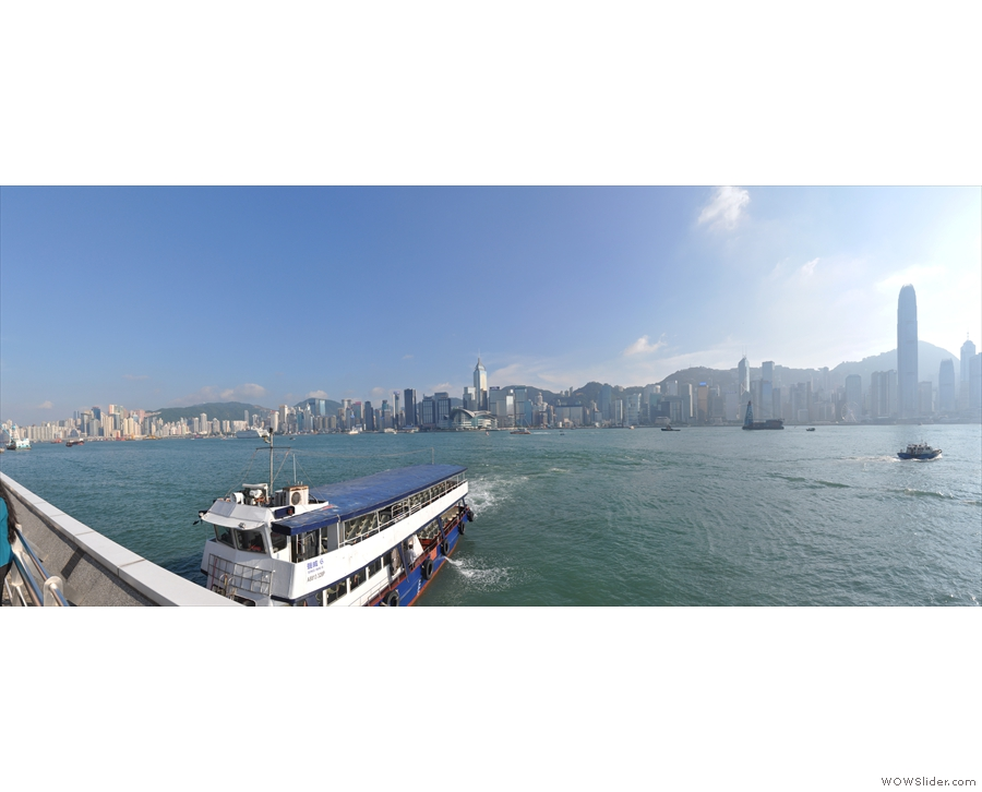 My favourite views, however, are from the water front at the Star Ferry terminal.