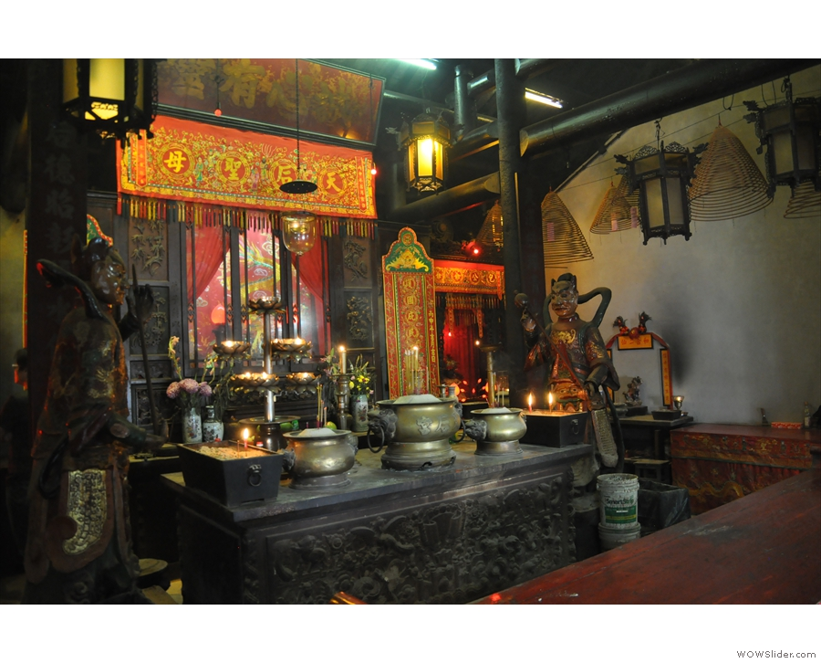 This is the Tin Hau Temple, by the way, and here is its beautiful interior.