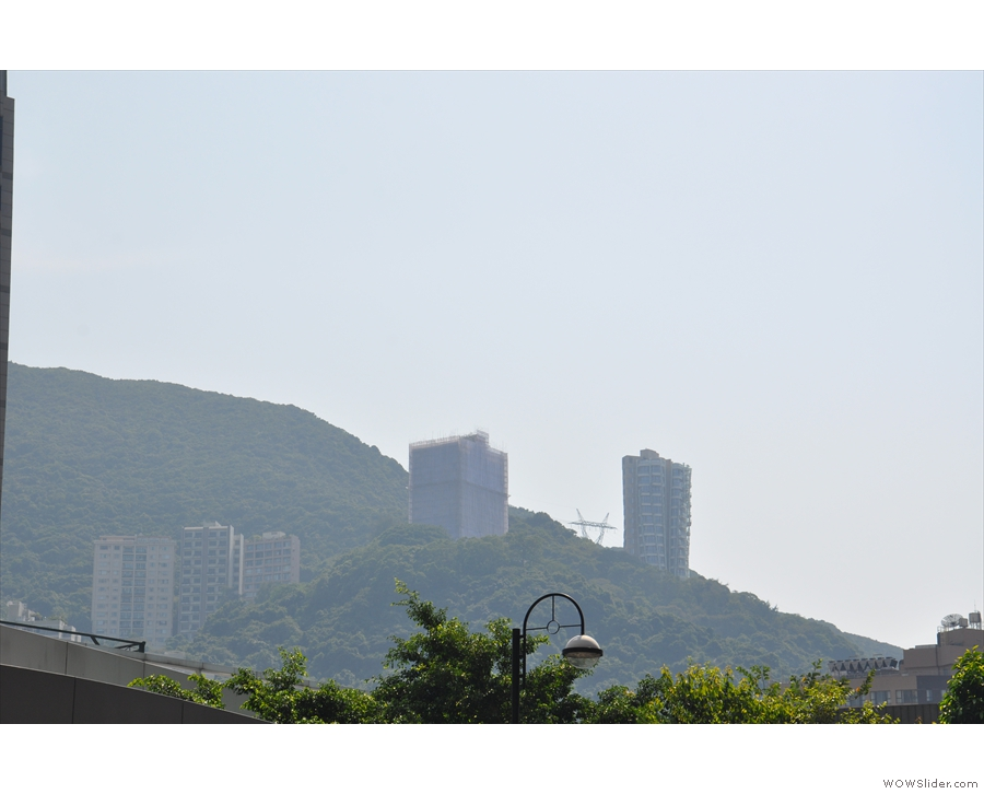 Increasingly the skyscrappers aren't restricted to the coastal strip: they're on the hills too.