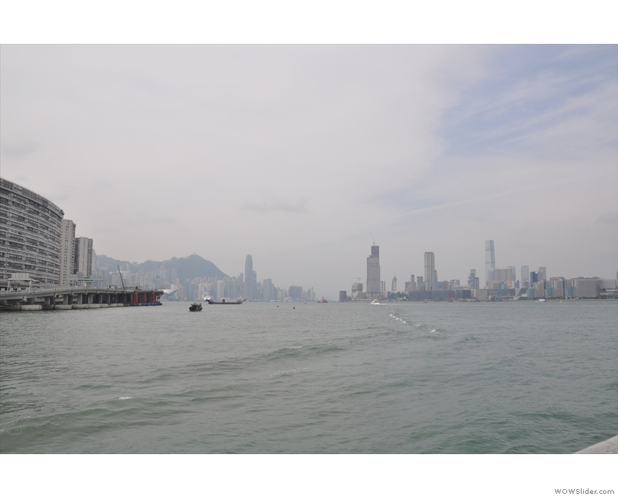 ... to catch the First Ferry across Victoria Harbour to Hung Hom. This is the view from...