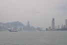 ... the ferry. I'm looking west, with Hong Kong Island on the left, Kowloon on the right.