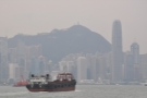 This is Central, the heart of Hong Kong, with Victoria Peak behind.