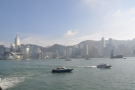 Victoria Harbour from Wan Chai (left) to Admiralty (right).