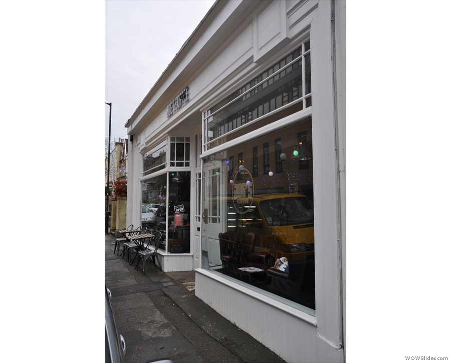 Look up West Park from Whiteladies Road in Bristol and you'll see Joe's Coffee