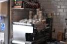 And a very fine espresso machine in the corner.