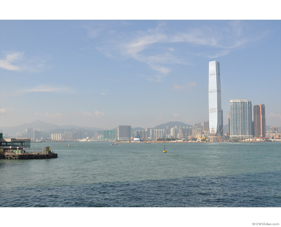 That's the International Commerce Centre, Hong Kong's tallest building, over in Kowloon.