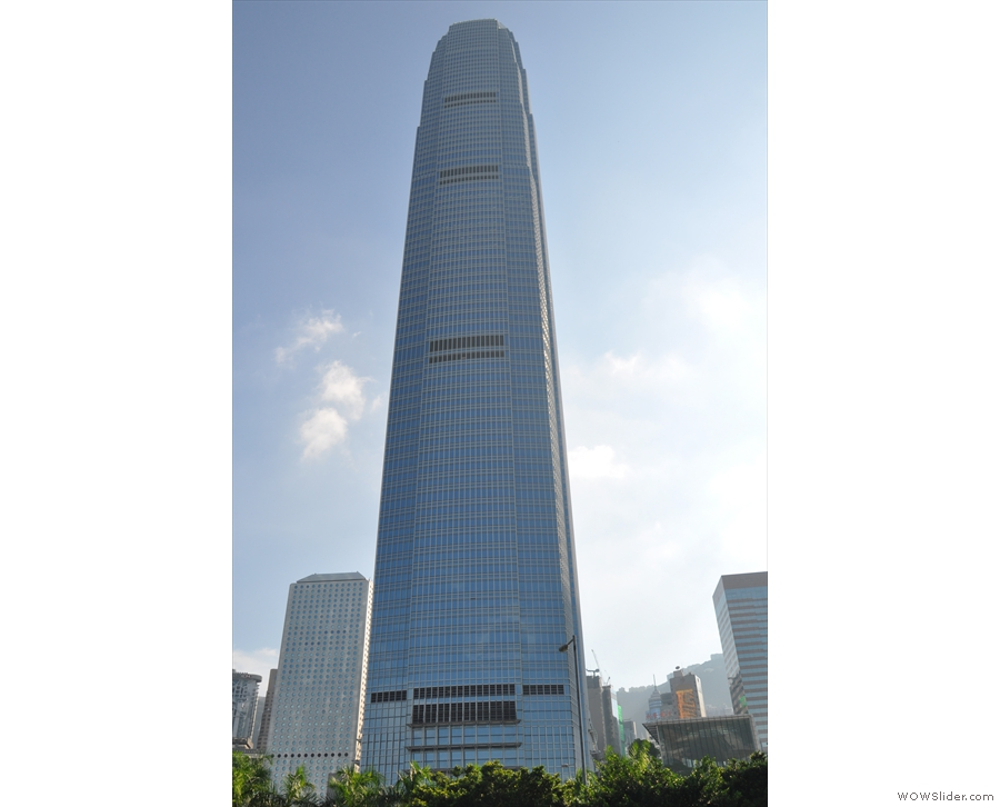 And closer to hand, the building it surpassed: International Finance Center Tower 2.