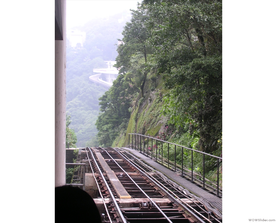 Let's just look out the end of the platform... Yikes! That's a long way down!