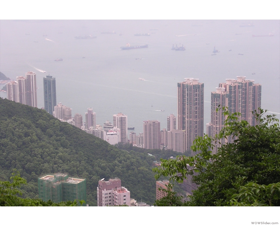 This is the view north, over Sai Wan, one of the neighbourhoods west of Central...