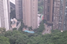 ... skyscrapers, which march half way up the northern slope of Victoria Peak.