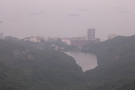 This is Pok Fu Lam Reservoir. You can hike down there from Victoria Peak.