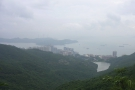 The view from the south side, overlooking Pok Fu Lam with Lamma Island in the distance.