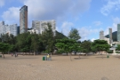 A panorama of the beach, looking inland...