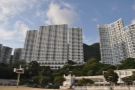 To the left, the Repulse Bay Apartments...