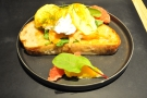 ... in Central for this farewell breakfast (Eggs Royale).