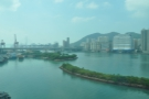 You get some impressive views of urban Hong Kong on the left of the train...
