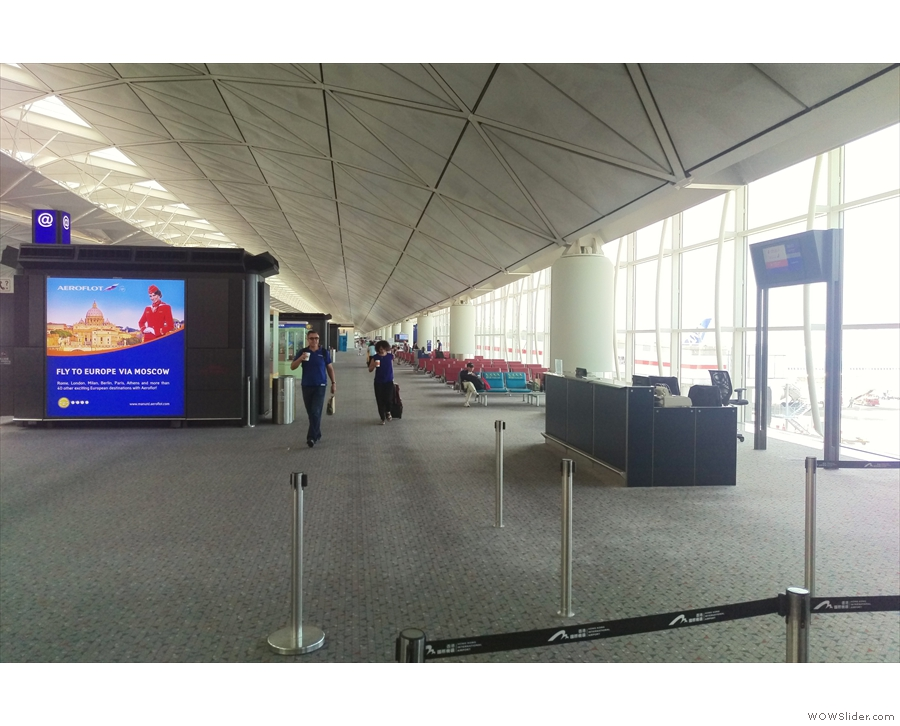 However, Hong Kong has plenty of space, seats at the gates and my gate was called early.