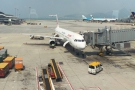 Finally, our plane arrives! My Eastern China Airlines Airbus A321, bound for Shanghai.