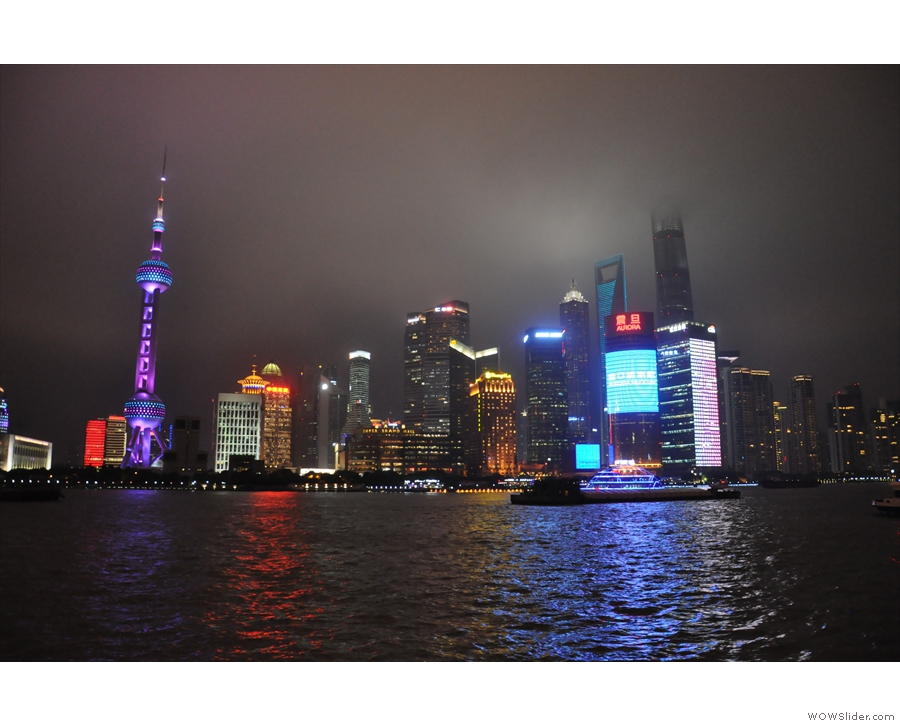... with its views looking east across the river to Pudong.