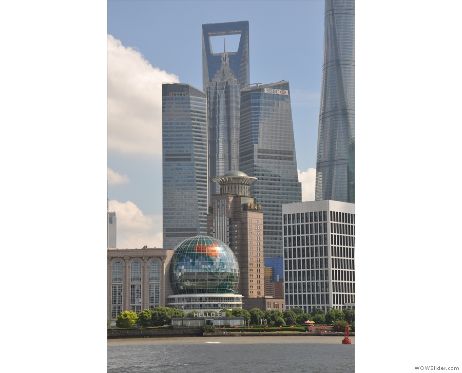 The Pudong side is very modern, with an amazing mix of architectural styles.