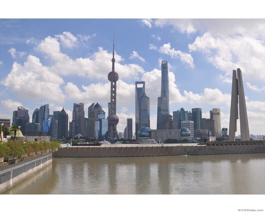 The view of the Pudong skyline from near my hotel on my first stay in Shanghai.