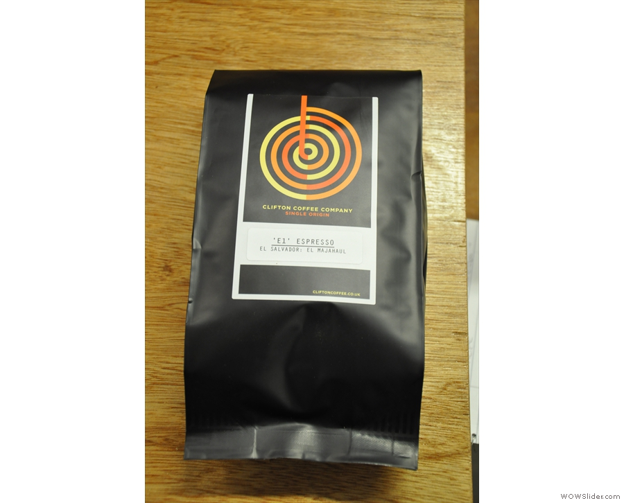 And this one! A bag of the E1 espresso! Looks as if Christmas has come early :-)