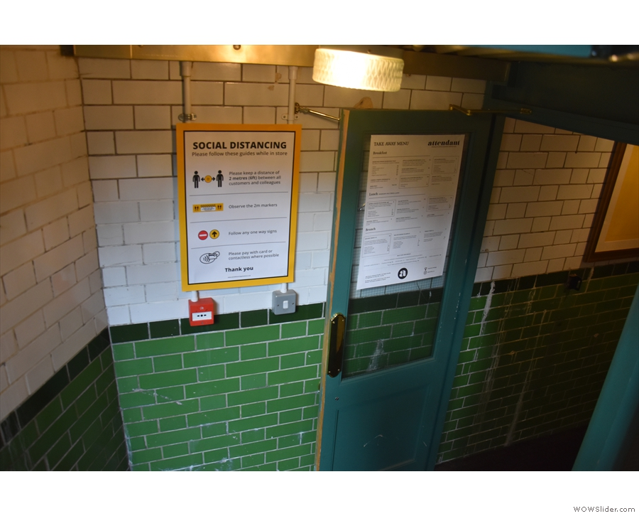 The next change is at the bottom of the stairs where, along with the menu...