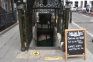 The A-board intrigued me: sit in or take away. Well, I'd better go in then!