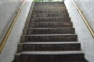 ... and back up the steps...