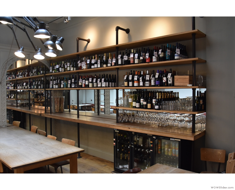 ... look much the same, as does the wine rack along the right-hand wall.