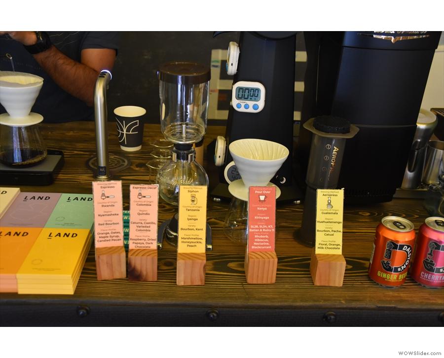 Kafi still offers its full range of single-origin coffees and preparation methods.