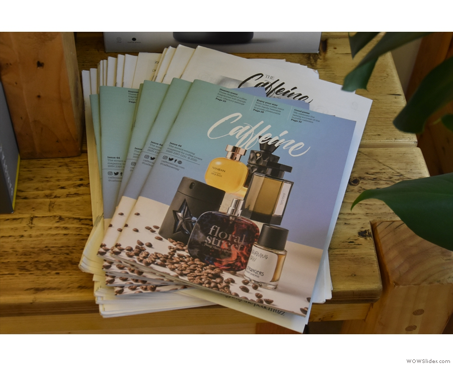 Kafi has a good stock of Caffeine Magazines...