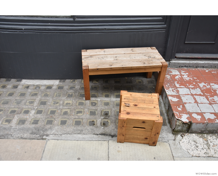 ... is that the two benches are at opposte ends of the window and have little tables now.