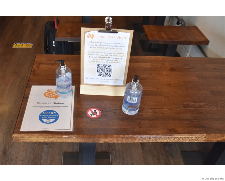 The staff will check if there is a table, then you come in, but only as far as the check-in...
