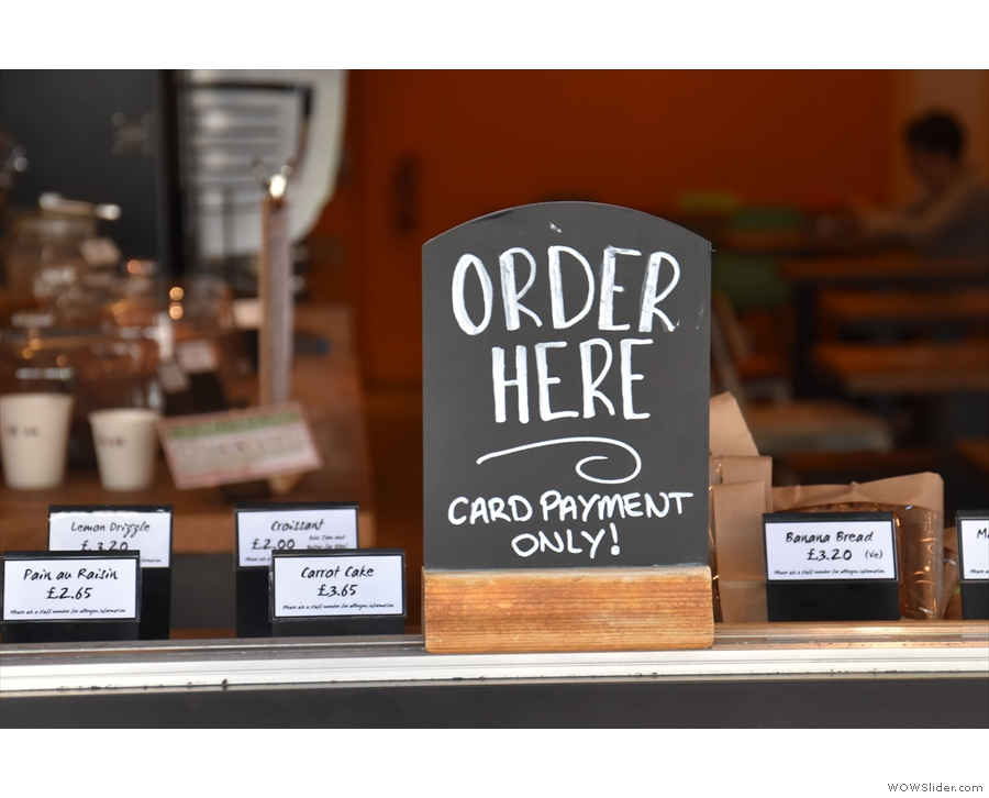 You order here, on the left...