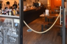 A rope, politely hung across the door on the right, prevents you from just wandering in.