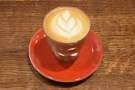 I had a cortado, which seems to be my usual order in The Press Room.