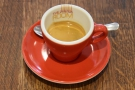 Before I left, David, the owner, treated me to an espresso on the house.