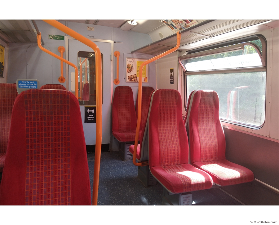 ... so the following week I was on another near-empty train...