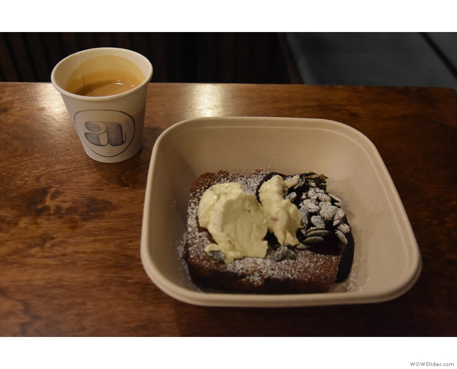 ... so I had a cortado and banana toast. It was the only place not using proper cups.