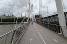 Then it was on across the Thames on the Hungerford Bridge...