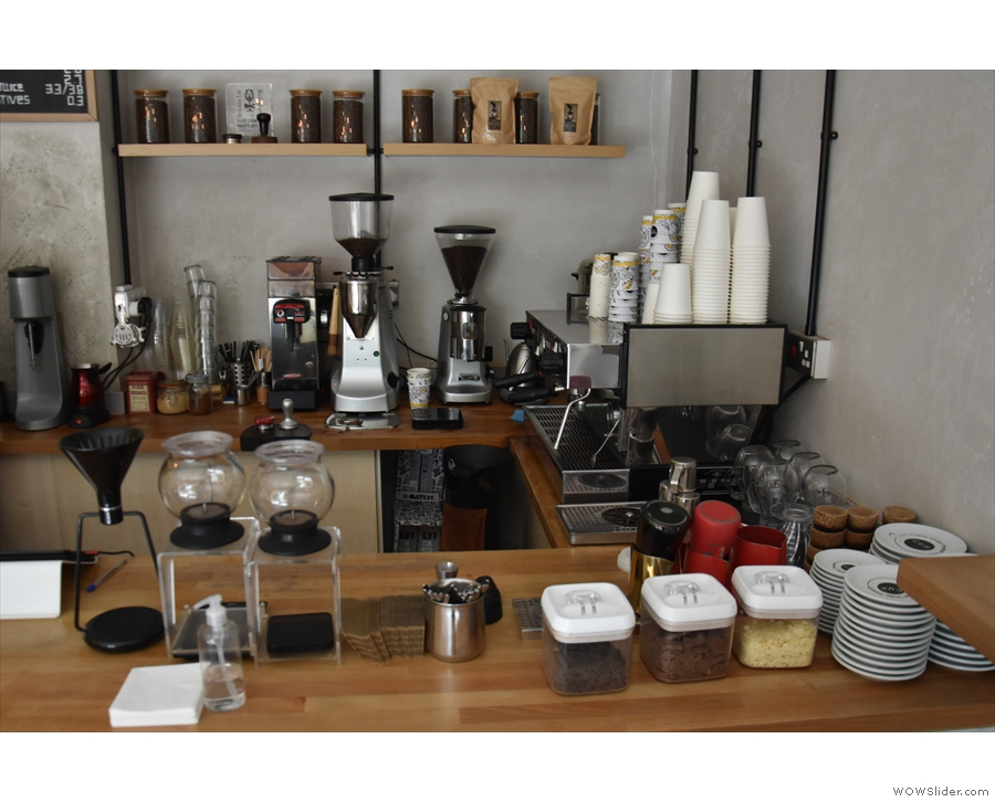 The right-hand end, meanwhile, is the preserve of the coffee and tea making.
