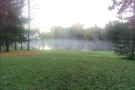 ... the lake was wreathed in mist, which was quite magical.