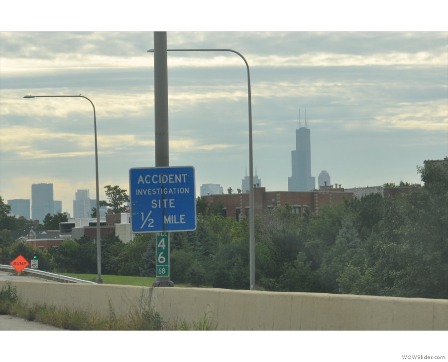 ... and the famous Willis Tower (once known as the Sears Tower), the city's tallest.