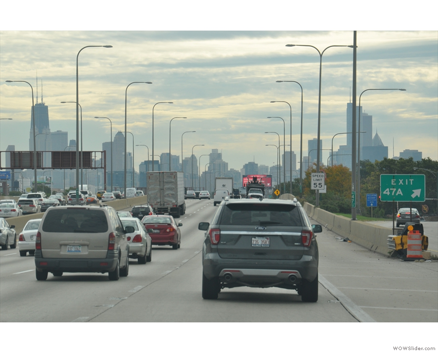 ... which is north of the Willis Tower and is Chicago's fourth tallest building.