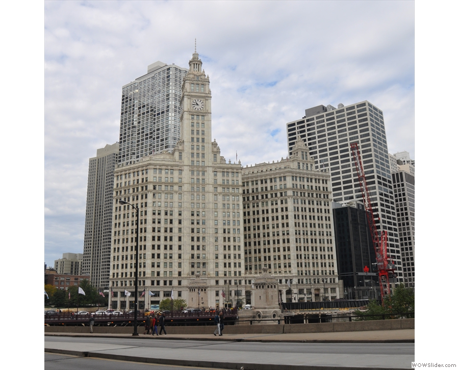 ... while just across the way is one of my favourites, the Wrigley Building.