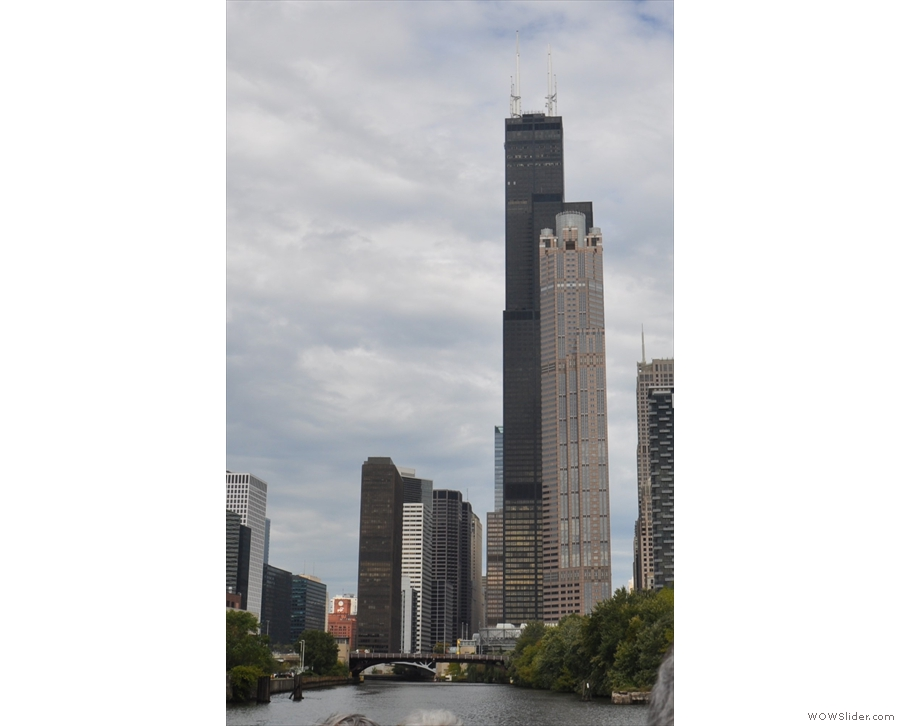 And unobstructed view of the Willis Tower. It used to be the tallest building in the world...